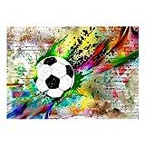 decomonkey Fototapete Graffiti Fußball 300x210 cm XL Tapete Fototapeten Vlies Tapeten Vliestapete Wandtapete moderne Wandbild Wand Schlafzimmer Wohnzimmer Jugendzimmer Ball