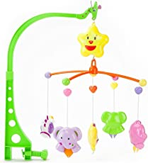 Kiditos Cuddle Cot Cradle Musical Rattle for Infants (GW49-D074, Multicolour) - Set of 6-Pieces