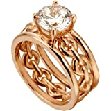 ESPRIT Women's Ring Ann 925 silver zircon (Rose) 17 einfarbig (17 mm)