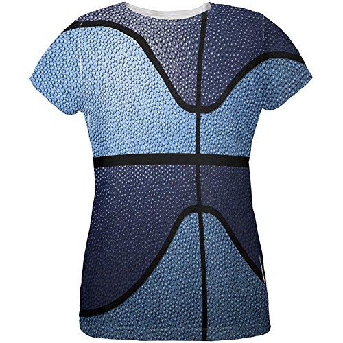 Old Glory Championship Basketball Navy & Hellblau Alle über Womens T-Shirt Multi X-LG (Old Navy Damen-t-shirt)