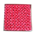 TININNA 81pcs Handmade Scented Bath Soap Rose Petal in Box Great for Wedding Valentine's Day Gifts from TININNA