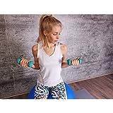 GORILLA SPORTS® Kurzhantel-Set Vinyl 31 kg für Gymnastik, Aerobic, Pilates, Fitness – 12er-Satz aus 6 Gewichtspaaren