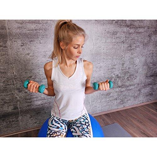 GORILLA SPORTS® Kurzhantel-Set Vinyl 31 kg für Gymnastik, Aerobic, Pilates, Fitness - 12er-Satz aus 6 Gewichtspaaren