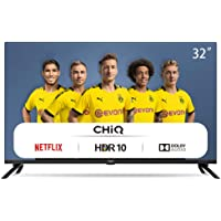 CHiQ 32 zoll (80cm) HD smart TV, L32H7N, prime video, netflix, youtube, triple tuner