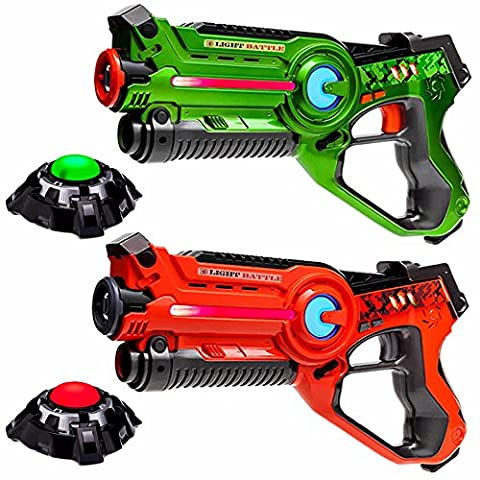 Light Battle Active lazer game set orange/verts, 2 pistolets infrarouge