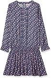 Noa Noa miniature Mädchen Kleid Dress Long Sleeve,Knee Length, Blau (Vintage Indigo 758), 98 (Herstellergröße: 3Y)