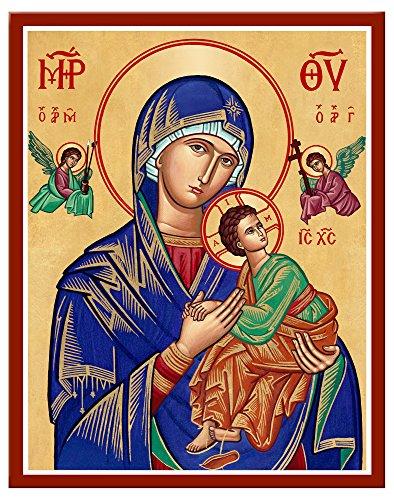 Kloster Symbole Unserer Lieben Frau von der immerwährenden Hilfe montiert Plaque Icon Reproduktion 11