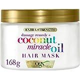 OGX Maschera, Miracle, Coconut Milk, per Capelli Secchi Sciupati o Trattati Chimicamente, Idrata i Capelli Crespi, Olio di Co