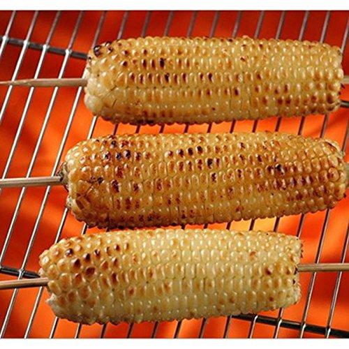 61n8eoSO TL - Lumanuby 90 x Holz Grillspieße Marinaden Sticks, Einweg-Grill Utensilien Bambus Party Sticks, perfekt für BBQ Fleisch, Steaks vieles mehr (20 cm)