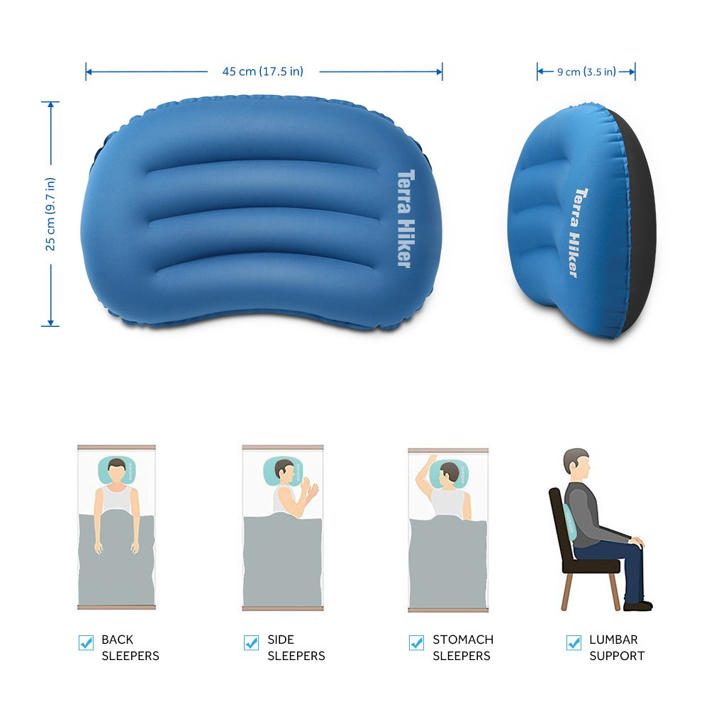 Terra Hiker Inflatable Camping Pillow