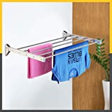 SYNERGY - (5 Pipe x 4 Feet) - Heavy Duty Stainless Steel Foldable Wall Mounted Cloth Dryer/Clothes Drying Stand [SY-GL3]