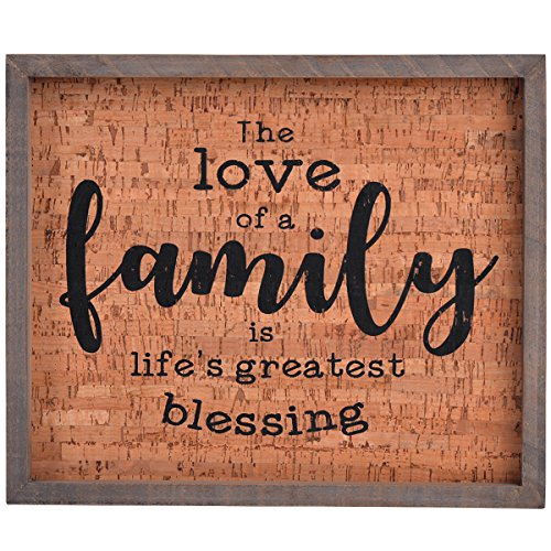 NIKKY HOME Placa Decorativa Pared Marco Madera, Texto