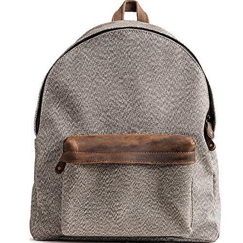 Die wasserdichte Pfeffer Salz canvas Rucksack Tasche retro Männer, lässige Mode für Frauen große Kapazität Travel Bag B133 (Boot-salz)