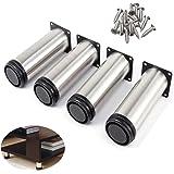 sossai® Patas para muebles MFV1 | 4 piezas | altura regulable ...