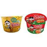 Samyang Big Bowl Buldak Kimchi & Cheese Hot Chicken Flavour Raman Cup Noodle, 105mg*2 Pack (Pack of 2) (Imported)