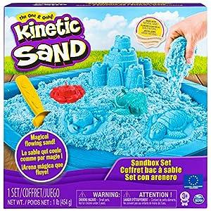 Kinetic Sand, 6029058,  Set de arena cinética y caja, (El Empaque puede Variar)