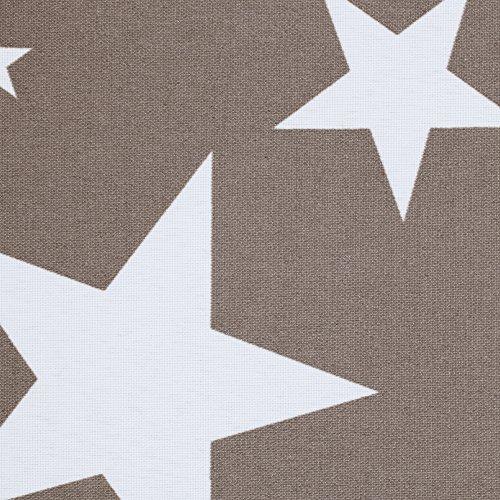 Lichtblick KRT-045-180-101 Rollo Klemmfix ohne Bohren blickdicht Sterne Grau-Weiß - 3