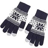 Aisoway 1 Paio Knit Del Fiocco Di Neve Di Natale Guanti Touchscreen Gloves Warm Polsino Elastico Texting Mitts Per Le Donne G