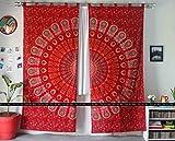 Art Box STORE Baumwolle rot Mauer Mandala Vorhang Fenster indischen Hippie Fenster Vorhang Tapisserie Bohemian Raumteiler Vorhänge Mandala Wand Vorhänge Boho Décor Wohnheim Fall indischen Fenster Vorhänge Pfau