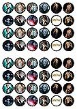 48 Harry Potter, Essbare PREMIUM Dicke GEZUCKERTE Vanille, Reispapier Mini Cupcake Toppers, Cake Pops, Cookies für Wafer