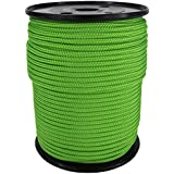 PP Seil Polypropylenseil SH 4mm 100m Farbe Fluorgrün (2000) Geflochten