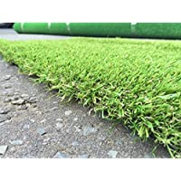 Premier 40mm Pile Height Artificial Grass | Choose from 47 Sizes on this Listing | Cheap Natural & Realistic Looking Astro Garden Lawn | Sample of Cheap High Density Fake Turf