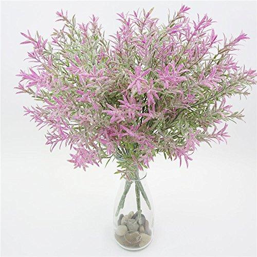flanzenlaub Dekor Potting Blume Gras Kunststoff Emulational Blätter Prop Künstliche Simulation Pflanze Lavendel Hause ()