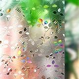 Lemon Cloud 3d - kleber statische selbstklebende fensterglas film anti - uv - an privatsphäre aufkleber für zimmer - bad - küche - wohnzimmer zu hause dekoration (90cmx200cm, mimosen.