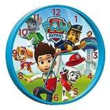 PAW PATROL - Reloj de Pared, Color Azul (Kids PW-16021)