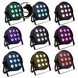U`King DMX512 Par Licht Lichteffekt Bühnenbeleuchtung 4 in 1 RGBW Partylicht mit 4 LED Display automatisierte und Sprachaktivierte Stage Lights,Stimmungsleuchten für Disco, Ballsaal,Bar,Bühne,Club,Party und Weihnachten