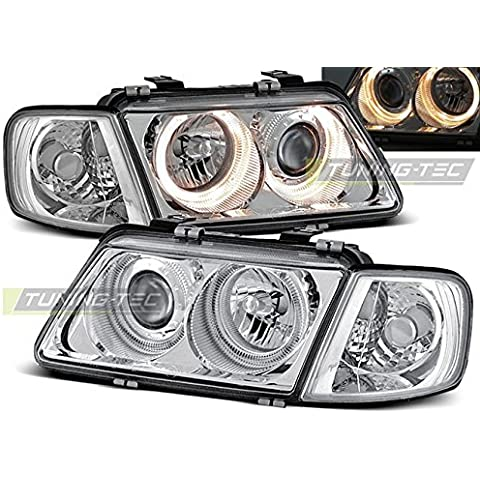 Top Set fari Lampade lpau08 Audi A3 08.1996 – 08.2000 Angel Eyes