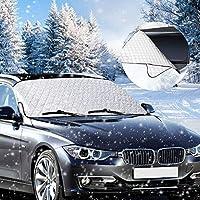 phixilin Scheibenabdeckung, Auto Windschutzscheibe Abdeckung Frostschutz Windschutzscheiben Abdeckung Anti-Schnee Wind Frost Frontscheiben Abdeckung für die meisten Autos und SUV (185 * 93cm)