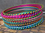 FB FunkyBuys 10x Spiral Glitter Kids/Adults Small Large Hula Hoops DIA:60cm Sporting Good Fitness Hula Hoops