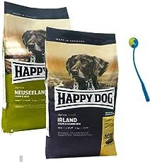 Happy Dog 2 x 12,5 kg 1 x Irland +1 x Neuseeland Hundefutter + Ballschleuder