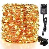 Budbuddy Lichterkette 12M 240LED Valentinstag warmweiß dimmbare Lichterkette aus Kupferdraht für Weihnachten Zimmerdekoration Hochzeit Party, voll wasserdicht