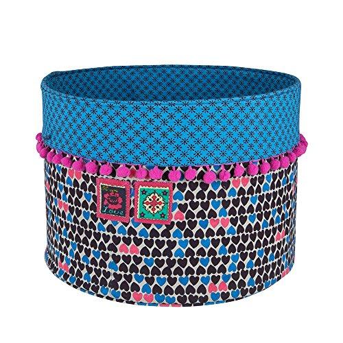 Colorique chokhi tampons Boîte de Rangement Harts Bleu Taille S, diamètre 30 x 30 cm, Fuchsia, Bleu