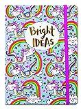 Einhorn Bright Ideas A5Luxus Notizbuch liniert von Rachel Ellen