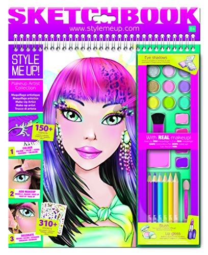 Style me up! 01445 - Sketchbook Make up Artist, Bastelset