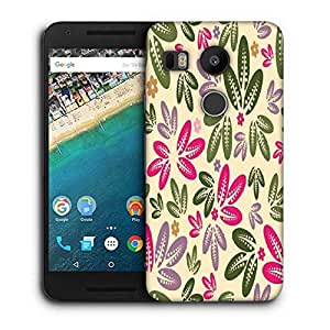 Snoogg Multicolor Leaves Printed Protective Phone Back Case Cover For LG Google Nexus 5X