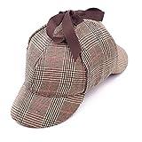 EINSKEY Sherlock Holmes Mütze Kinder Erwachsene Spiel Cosplay Detective Deerstalker Hut für Halloween, Martinstag, Weihnachten