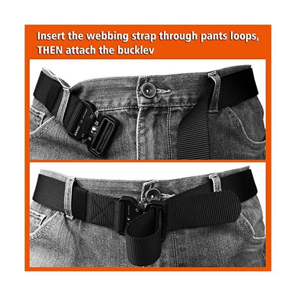 FEIKCOR Cinturón Táctico Cinturón Resistente para Hombres Cinturón Militar DE 1,5 '' Cinturones de Fijación Rápida… 16