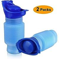 EEEKit Urinoir rétractable, Bouteille d'urine de Pot Mobile de Toilette Mobile Femelle 750ML mâle, urinoir d'urgence réutilisable pour Camping Car Voyage embouteillage et File d'attente