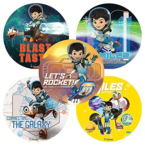Disney Jr. Miles from Tomorrow Land Stickers - Birthday Party Supplies & Favors - 75 per Pack by SmileMakers