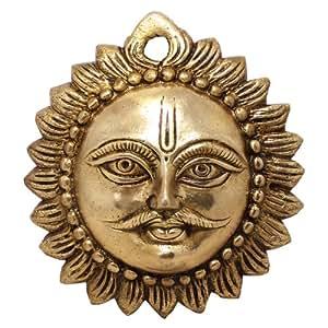 Tenture murale Sun masque religieux cuivres décoratifs Collection Figurines