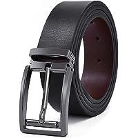 89151cb4fca NEWHEY Ceinture Homme Cuir Jeans Veritable Réglable Noir Marron 35mm de  Larges