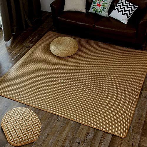 SXFYWYM Crawling Matte für Wohnzimmer Schlafzimmer Sommer Multifunktions Stroh Matte Teppich einfach zu reinigen (nur Teppich),B,180X180CM (Stroh-matte Schlafen)