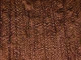 Satin-Kleiderstoff, gestickt, geknittert, Braun, Meterware