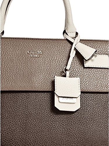 Guess - Cate Satchel, Borsa a mano Donna Brown Multi (Braun)