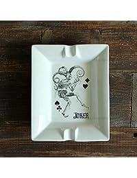 XOYOYO Europeo clásico moderno minimalista Plancha cerámica Poker Cenicero Cenicero belleza Pastoral de la campiña francesa