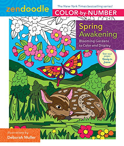 Zendoodle Color-By-Number: Spring Awakening: Blooming Gardens to Color and Display por Deborah Muller